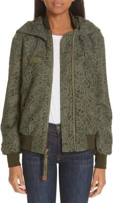 Mr & Mrs Italy Lace Bomber Jacket