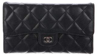 Chanel Quilted Lambskin Trifold Wallet