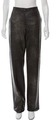 Calvin Klein Collection Distressed Leather Pants