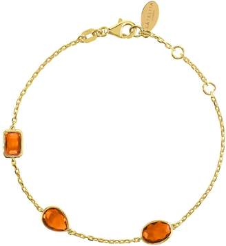 Latelita London - Venice Bracelet Gold Citrine