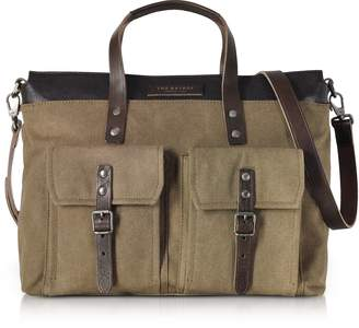 The Bridge Carver-D Canvas and Leather Men's Tote Bag