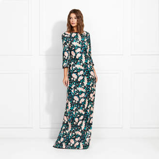 ac10ddb2db9 Rachel Zoe Linna Garden Print Sequin Caftan
