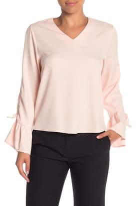 OnTwelfth Cinch Bell Sleeve Blouse