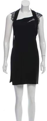 The Kooples Lace-Accented Draped Dress