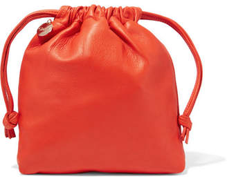 Clare V. - Textured-leather Pouch - Bright orange $200 thestylecure.com