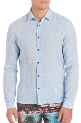 Orlebar Brown Solid Full Sleeve Shirt