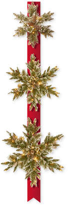 National Tree Company Triple Snowflake Door Decor Piece With 100 Battery-Operated Twinkle Led Lights