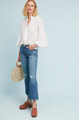 Mother The Weekender Fray Mid-Rise Flare Jeans