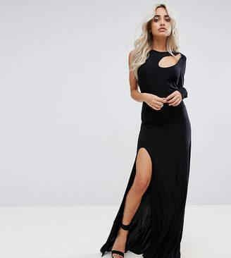 City Goddess Petite Spliced Maxi Dress With Thigh Split