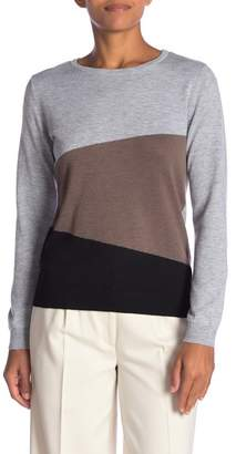 Joseph A Colorblock Knit Sweater
