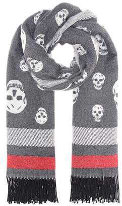 Alexander McQueen Skull wool and cashmere scarf
