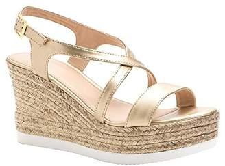 ShoBeautiful Women's Espadrille Platform Wedge Sandal Open Toe Crisscross Strappy Slingback Dress Summer Shoes 6