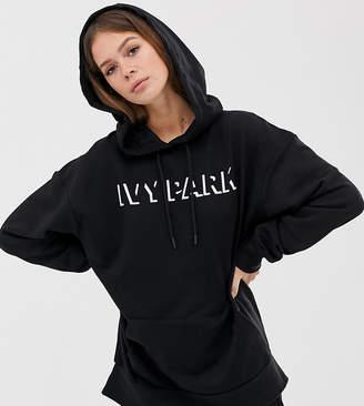 Ivy Park logo hoodie in black