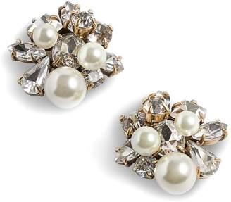 J.Crew Imitation Pearl & Crystal Earrings