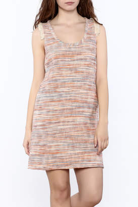 Lilla P Tweed Trim Dress