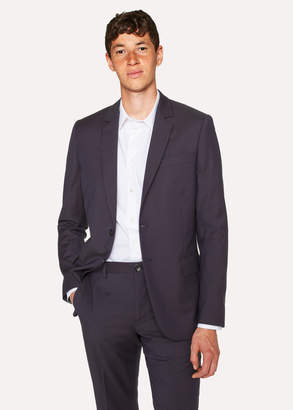 Paul Smith Men's Mid-Fit Navy Check Wool-Blend Blazer
