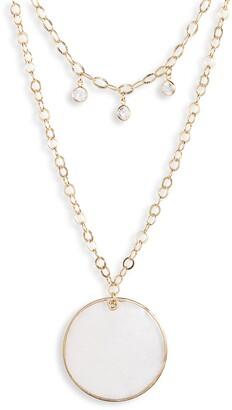 Ettika Multistrand Disc Pendant Necklace
