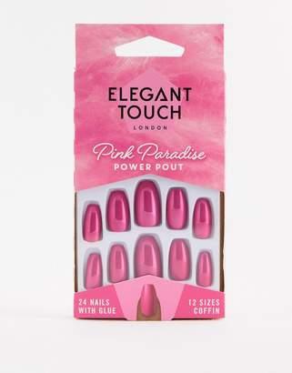 Elegant Touch Pink Paradise False Nails - Power Pout