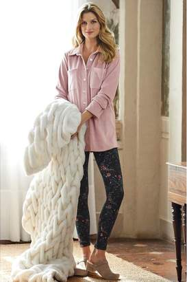 Soft Surroundings Fur Lined Print Leggings