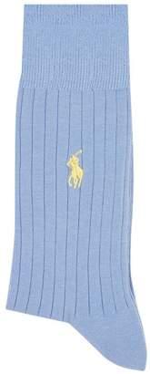 Ralph Lauren Logo Embroidered Socks (2 Pack)