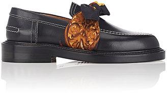 Maison Margiela Women's Tie-Strap Leather Loafers $950 thestylecure.com