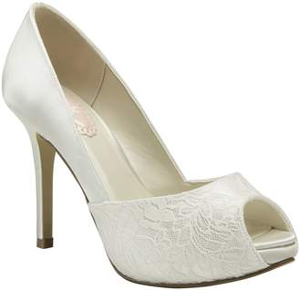 House of Fraser Paradox London Pink Fancy lace peep toe platform shoes