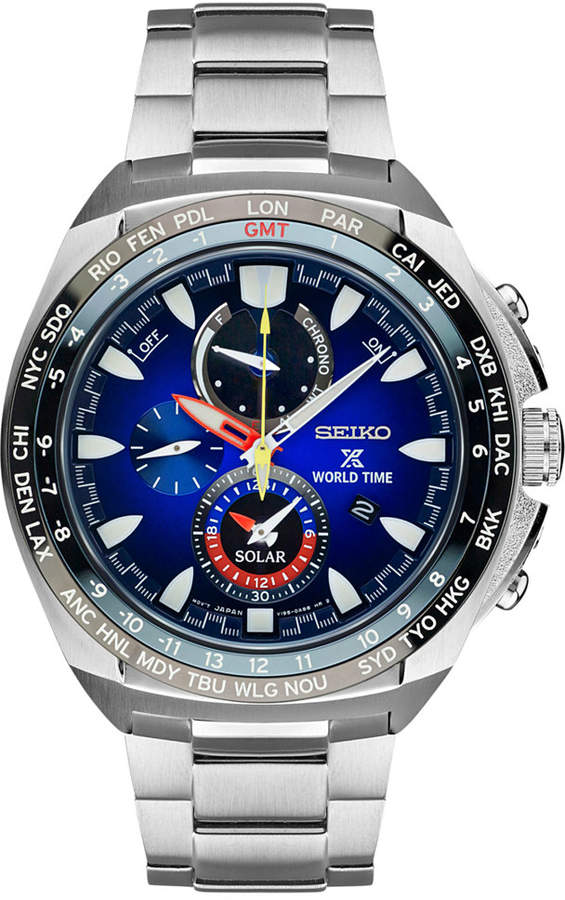 SeikoSeiko Men's Solar Chronograph Prospex Special Edition Kojiro Shiraishi Stainless Steel Bracelet Watch 44mm SSC549