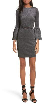 Ted Baker Bell Cuff Metallic Sheath Dress