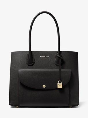MICHAEL Michael Kors Mercer Extra-Large Pebbled Leather Pocket Tote Bag