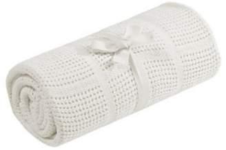 Mothercare Cream Pram Cellular Blanket