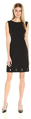 Anne Klein Women's Crepe Eyelet Sheath Dress