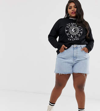 Asos DESIGN Curve sweatshirt with zodiac print