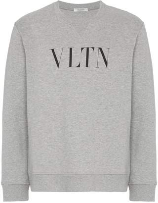 Valentino VLTN print cotton sweatshirt
