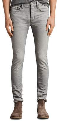 AllSaints Ghoul Cigarette Slim Fit Jeans in Gray