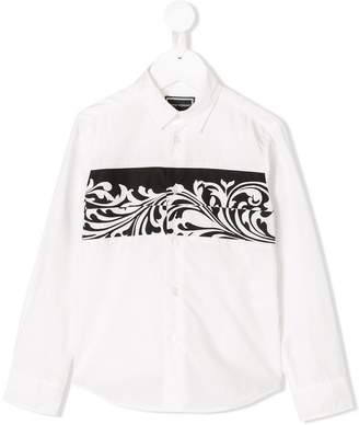 Versace abstract print shirt