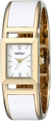 Bulova Caravelle New York Women's 44L143 Two-Tone Bangle Watch