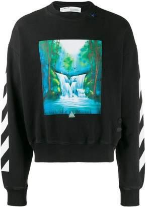 Off-White Off White waterfall crewneck sweater black