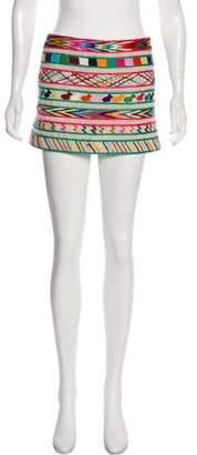 Gryphon Embroidered Mini Skirt