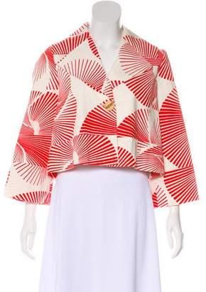Diane von Furstenberg Woven Button-Up Jacket