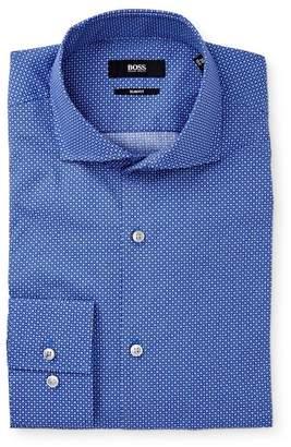 BOSS Jason Dotted Extra-Trim Fit Dress Shirt