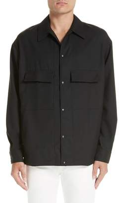 Lemaire Flap Pocket Wool Overshirt