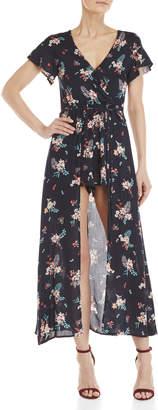 Love Tree Floral Wrap Maxi Walkthrough Dress