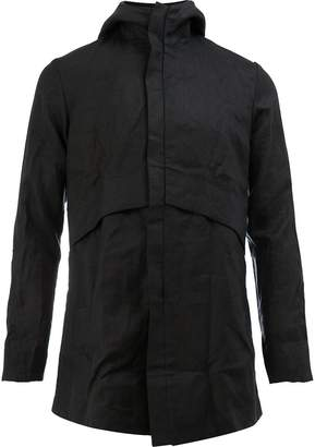 A New Cross creased hooded jacket
