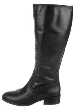 Saks Fifth Avenue Leather Round-Toe Knee-High Boots