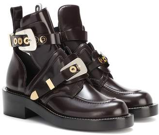 Balenciaga Ceinture leather derby boots