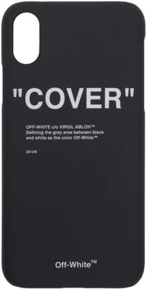 Off-White Black Quote iPhone X Case