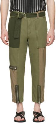 3.1 Phillip Lim Green Patchwork Flight Trousers $495 thestylecure.com