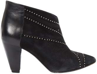 Anine Bing Black Suede Ankle boots