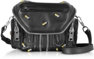 Alexander Wang Black Nappa Leather Micro Marti Shoulder Bag w/Pill Studs