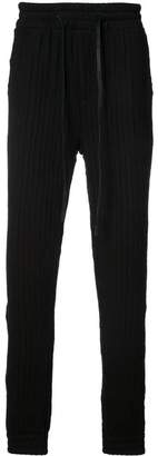 Private Stock textured stripe track trousers